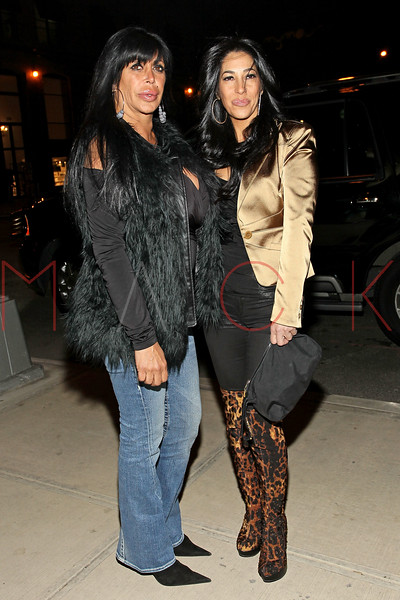 NEW YORK, NY - FEBRUARY 17:  TV personalities Angela 'Big Ang' Raiola and Carla Facciolo of reality TV series 'Mob Wives' attend the Fushimi Williamsburg opening on February 17, 2012 in the Brooklyn Borough of New York City.  (Photo by Steve Mack/S.D. Mack Pictures)