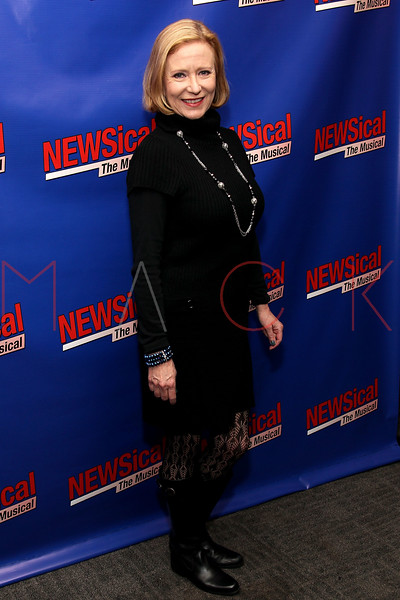 """NEW YORK, NY - FEBRUARY 01:  Eve Plumb attends the opening night of """"NEWSical the Musical: End of the World Edition"""" at the  The Kirk Theater at Theatre Row on February 1, 2012 in New York City.  (Photo by Steve Mack/S.D. Mack Pictures)"""