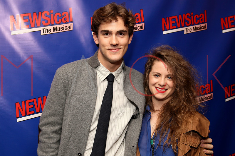 """NEW YORK, NY - FEBRUARY 01:  Erik Altemus and Carter McElroy attend the opening night of """"NEWSical the Musical: End of the World Edition"""" at the  The Kirk Theater at Theatre Row on February 1, 2012 in New York City.  (Photo by Steve Mack/S.D. Mack Pictures)"""