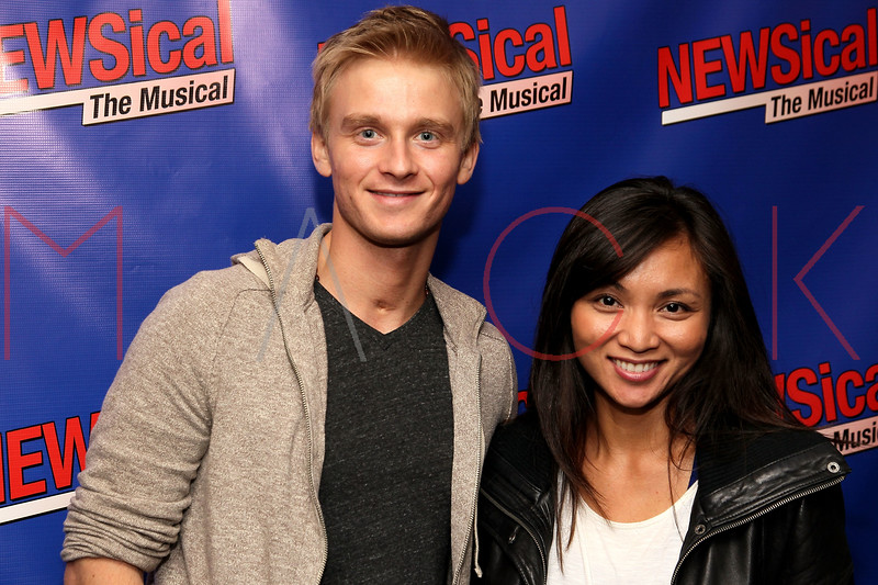 "NEW YORK, NY - FEBRUARY 01:  Anthony Fedorov and Jennifer Paz attend the opening night of ""NEWSical the Musical: End of the World Edition"" at the  The Kirk Theater at Theatre Row on February 1, 2012 in New York City.  (Photo by Steve Mack/S.D. Mack Pictures)"