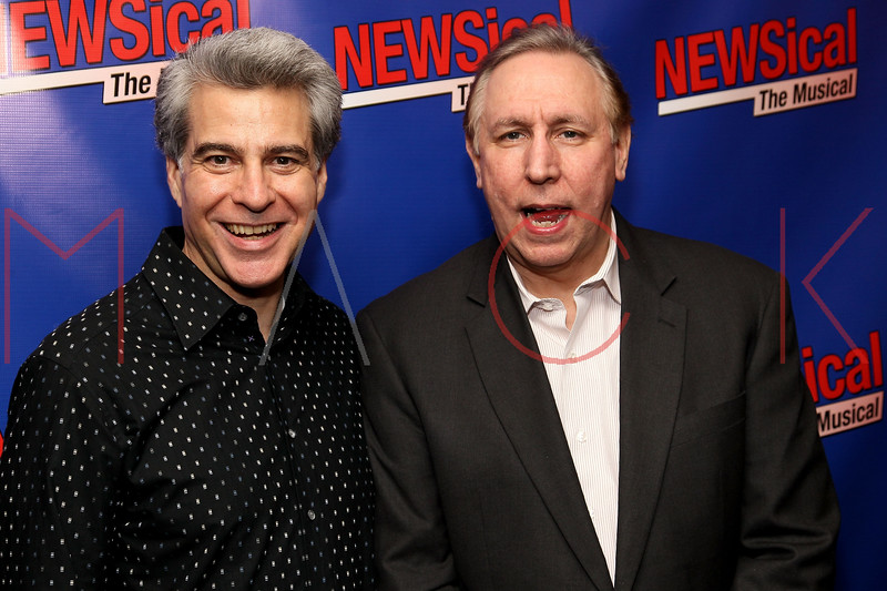 """NEW YORK, NY - FEBRUARY 01:  Mark Waldrop and Rick Crom attend the opening night of """"NEWSical the Musical: End of the World Edition"""" at the  The Kirk Theater at Theatre Row on February 1, 2012 in New York City.  (Photo by Steve Mack/S.D. Mack Pictures)"""
