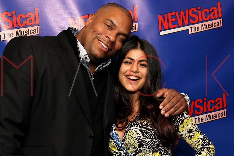 """NEW YORK, NY - FEBRUARY 01:  Sean Ringgold and Shenaz Treasury attends the opening night of """"NEWSical the Musical: End of the World Edition"""" at the  The Kirk Theater at Theatre Row on February 1, 2012 in New York City.  (Photo by Steve Mack/S.D. Mack Pictures)"""