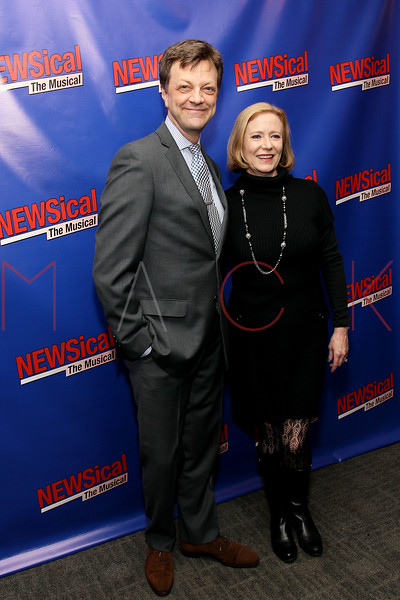 "NEW YORK, NY - FEBRUARY 01:  Jim Caruso and Eve Plumb attend the opening night of ""NEWSical the Musical: End of the World Edition"" at the  The Kirk Theater at Theatre Row on February 1, 2012 in New York City.  (Photo by Steve Mack/S.D. Mack Pictures)"