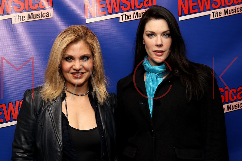 """NEW YORK, NY - FEBRUARY 01:  Orfeh and Kim Director attend the opening night of """"NEWSical the Musical: End of the World Edition"""" at the  The Kirk Theater at Theatre Row on February 1, 2012 in New York City.  (Photo by Steve Mack/S.D. Mack Pictures)"""