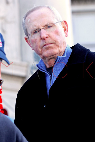 NEW YORK, NY - FEBRUARY 07:  New York Giants Tom Coughlin attends the New York Giants Victory Parade following their Super Bowl XLVI win down the Canyon of Heroes on the streets of Manhattan on February 7, 2012 in New York City.  (Photo by Steve Mack/S.D. Mack Pictures)