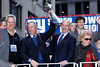 NEW YORK, NY - FEBRUARY 07:  Mayor Michael R. Bloomberg (2nd L), Steven Tisch New York Giants Quarterback Eli Manning and Ann Mara attend the New York Giants Victory Parade following their Super Bowl XLVI win down the Canyon of Heroes on the streets of Manhattan on February 7, 2012 in New York City.  (Photo by Steve Mack/S.D. Mack Pictures)