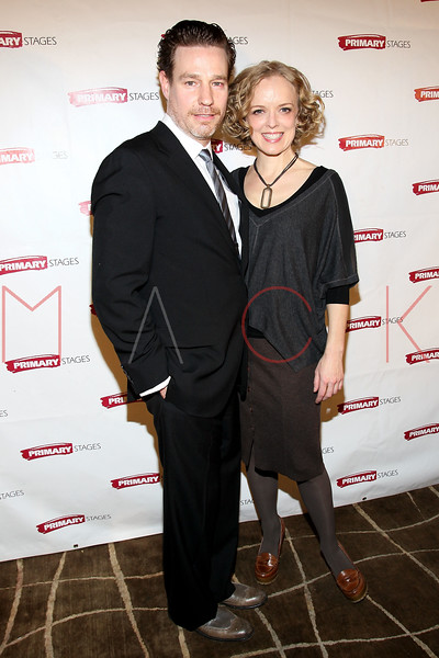 "NEW YORK, NY - FEBRUARY 07:  Ethan McSweeny and Nancy Anderson attends ""RX"" Broadway opening night after party at the 48 Lounge on February 7, 2012 in New York City.  (Photo by Steve Mack/S.D. Mack Pictures)"