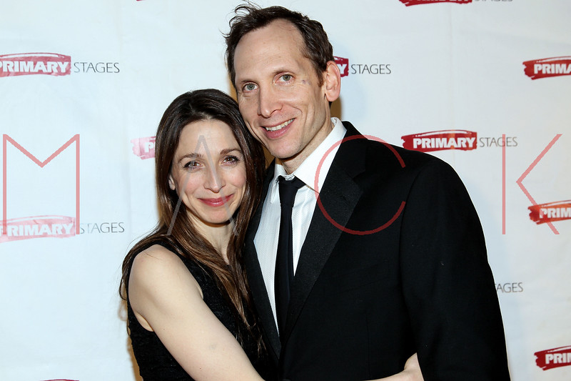 "NEW YORK, NY - FEBRUARY 07:  Marin Hinkle and Stephen Kunken attend ""RX"" Broadway opening night after party at the 48 Lounge on February 7, 2012 in New York City.  (Photo by Steve Mack/S.D. Mack Pictures)"