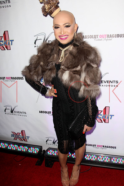 """NEW YORK, NY - FEBRUARY 03:  Ongina attends """"RuPaul's Drag Race"""" official season four launch party at RockIt Lounge at XL on February 3, 2012 in New York City.  (Photo by Steve Mack/S.D. Mack Pictures)"""