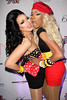 """NEW YORK, NY - FEBRUARY 03:  Manila Luzon and Sahara Davenport attend """"RuPaul's Drag Race"""" official season four launch party at RockIt Lounge at XL on February 3, 2012 in New York City.  (Photo by Steve Mack/S.D. Mack Pictures)"""