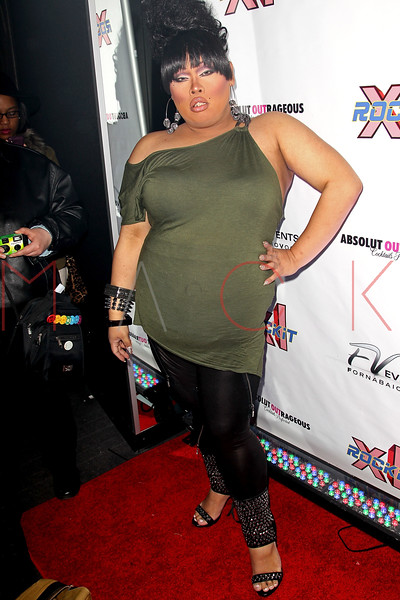"""NEW YORK, NY - FEBRUARY 03:  Jiggly Caliente attends """"RuPaul's Drag Race"""" official season four launch party at RockIt Lounge at XL on February 3, 2012 in New York City.  (Photo by Steve Mack/S.D. Mack Pictures)"""