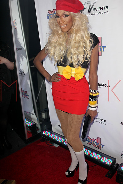 "NEW YORK, NY - FEBRUARY 03:  Sahara Davenport attends ""RuPaul's Drag Race"" official season four launch party at RockIt Lounge at XL on February 3, 2012 in New York City.  (Photo by Steve Mack/S.D. Mack Pictures)"