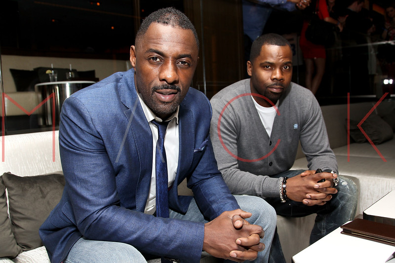 NEW YORK, NY - FEBRUARY 10:  Actor Idris Elba and pitcher for the New York Yankees C.C. Sabathia attend a Super Bowl XLVI Victory Party at 40 / 40 Club on February 10, 2012 in New York City.  (Photo by Steve Mack/S.D. Mack Pictures)
