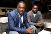 NEW YORK, NY - FEBRUARY 10:  Actor Idris Elba (L) and guest attend a Super Bowl XLVI Victory Party at 40 / 40 Club on February 10, 2012 in New York City.  (Photo by Steve Mack/S.D. Mack Pictures)
