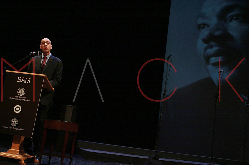 NEW YORK, NY - JANUARY 16:  NYC Dept. of Education Chancellor Dennis M. Walcott attends` the 6th annual Brooklyn Tribute to Dr. Martin Luther King, Jr. at the BAM Howard Gilman Opera House on January 16, 2012 in New York City.  (Photo by Steve Mack/S.D. Mack Pictures)