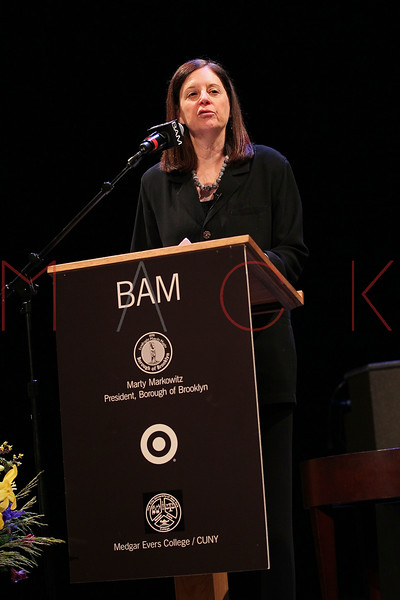 NEW YORK, NY - JANUARY 16:  President of BAM Karen Brooks Hopkins attends the 6th annual Brooklyn Tribute to Dr. Martin Luther King, Jr. at the BAM Howard Gilman Opera House on January 16, 2012 in New York City.  (Photo by Steve Mack/S.D. Mack Pictures)