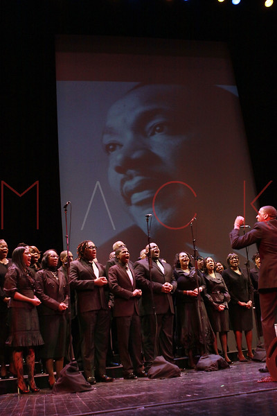 NEW YORK, NY - JANUARY 16:  Institutional Choir performs at the 6th annual Brooklyn Tribute to Dr. Martin Luther King, Jr. at the BAM Howard Gilman Opera House on January 16, 2012 in New York City.  (Photo by Steve Mack/S.D. Mack Pictures)