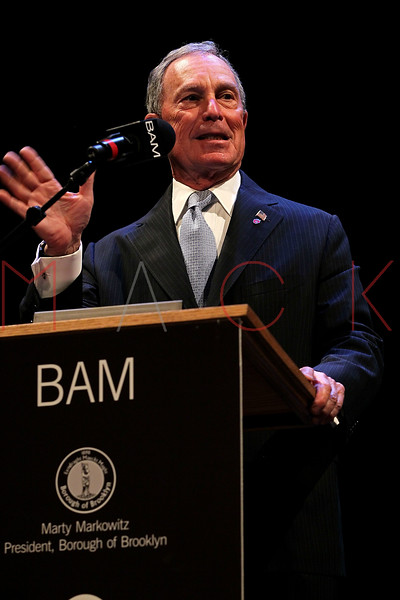 NEW YORK, NY - JANUARY 16:  NYC Mayor Michael R. Bloomberg attends the 6th annual Brooklyn Tribute to Dr. Martin Luther King, Jr. at the BAM Howard Gilman Opera House on January 16, 2012 in New York City.  (Photo by Steve Mack/S.D. Mack Pictures)