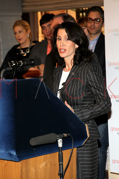 """NEW YORK, NY - JANUARY 26:  Commissioner Katherine Oliver, New York City Mayor's Office of Film, Theater and Broadcasting attends the Mayoral proclamation in celebration of the """"Gossip Girl"""" 100th episode at Silver Cup Studios on January 26, 2012 in New York City.  (Photo by Steve Mack/S.D. Mack Pictures)"""