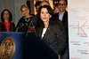 "NEW YORK, NY - JANUARY 26:  Commissioner Katherine Oliver, New York City Mayor's Office of Film, Theater and Broadcasting attends the Mayoral proclamation in celebration of the ""Gossip Girl"" 100th episode at Silver Cup Studios on January 26, 2012 in New York City.  (Photo by Steve Mack/S.D. Mack Pictures)"