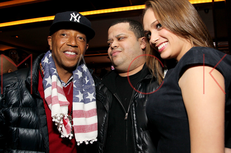NEW YORK, NY - JANUARY 18:  Russell Simmons (L) attends the grand re-opening of Jay-Z's 40/40 Club on January 18, 2012 in New York City.  (Photo by Steve Mack/S.D. Mack Pictures)