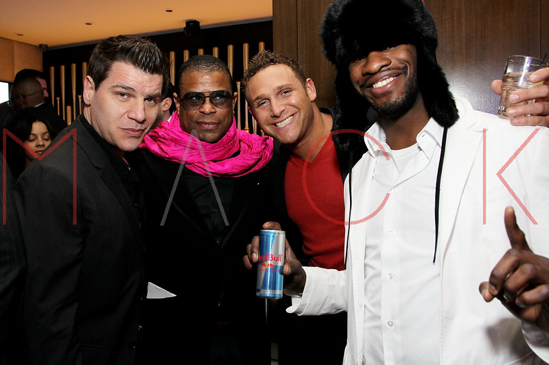 NEW YORK, NY - JANUARY 18:  Tom Murro, George Wayne, Chris Nirschel and Eric Kelly attend the grand re-opening of Jay-Z's 40/40 Club on January 18, 2012 in New York City.  (Photo by Steve Mack/S.D. Mack Pictures)