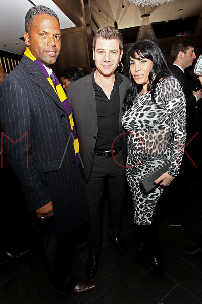 NEW YORK, NY - JANUARY 18:  A.J. Calloway, Tom Murro and Renee Graziano attend the grand re-opening of Jay-Z's 40/40 Club on January 18, 2012 in New York City.  (Photo by Steve Mack/S.D. Mack Pictures)