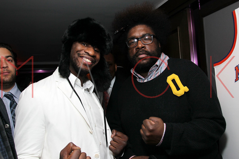NEW YORK, NY - JANUARY 18:  Eric Kelly and Questlove attend the grand re-opening of Jay-Z's 40/40 Club on January 18, 2012 in New York City.  (Photo by Steve Mack/S.D. Mack Pictures)