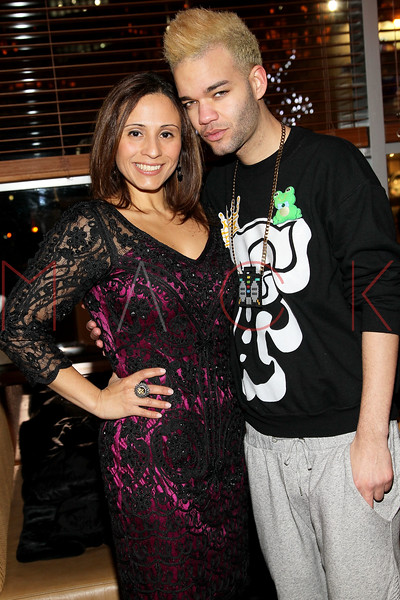 NEW YORK, NY - JANUARY 19:  Vive Katerin and Jason Christopher Peters at the Hudson Eatery on January 19, 2012 in New York City.  (Photo by Steve Mack/S.D. Mack Pictures)