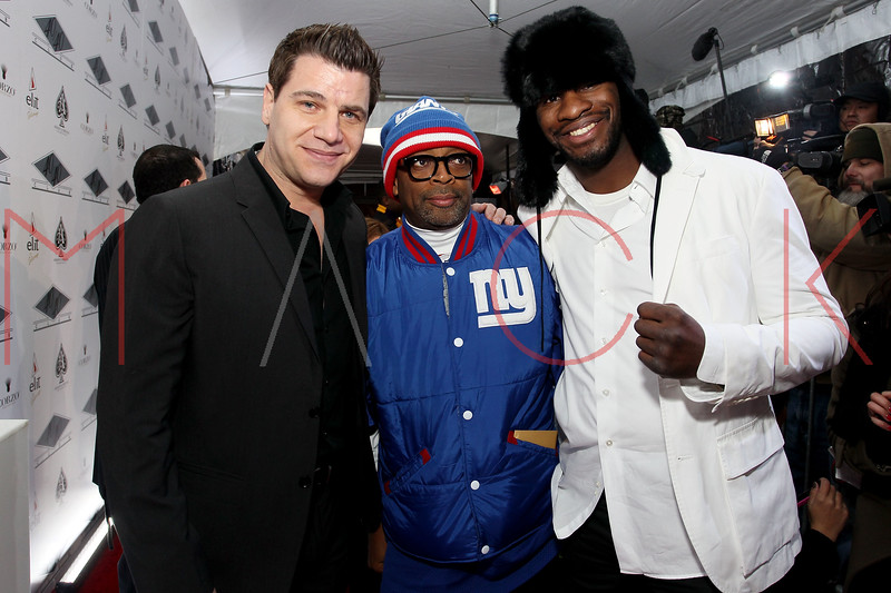 NEW YORK, NY - JANUARY 18:  Tom Murro, Spike Lee and Eric Kelly attend the grand re-opening of Jay-Z's 40/40 Club on January 18, 2012 in New York City.  (Photo by Steve Mack/S.D. Mack Pictures)