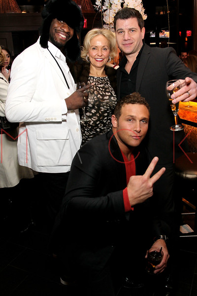 NEW YORK, NY - JANUARY 18:  Eric Kelly, Kim Granatell, Chris Nirschel and Tom Murro attend the grand re-opening of Jay-Z's 40/40 Club on January 18, 2012 in New York City.  (Photo by Steve Mack/S.D. Mack Pictures)