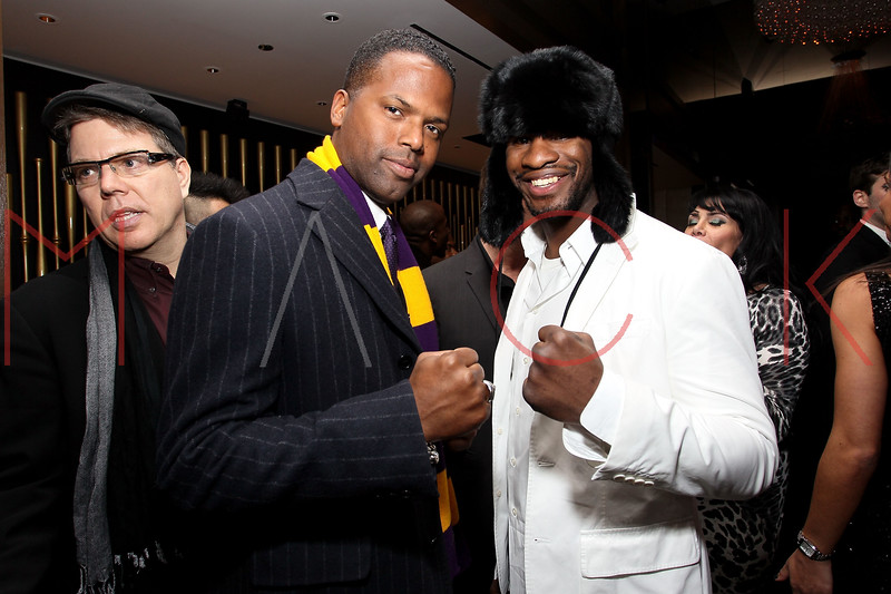 NEW YORK, NY - JANUARY 18:  A.J. Calloway and Eric Kelly attend the grand re-opening of Jay-Z's 40/40 Club on January 18, 2012 in New York City.  (Photo by Steve Mack/S.D. Mack Pictures)