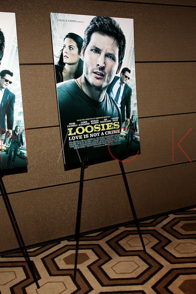 """NEW YORK, NY - JANUARY 10:  Atmosphere (movie poster) attends the """"Loosies"""" premiere at the  Tribeca Grand Hotel on January 10, 2012 in New York City.  (Photo by Steve Mack/S.D. Mack Pictures)"""
