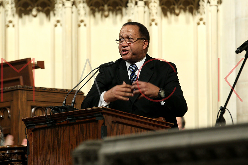 NEW YORK, NY - JANUARY 15:  Benjamin Chavis attends the 2012 Dr. Martin Luther King Jr. Service at Riverside Church on January 15, 2012 in New York City.  (Photo by Steve Mack/S.D. Mack Pictures)