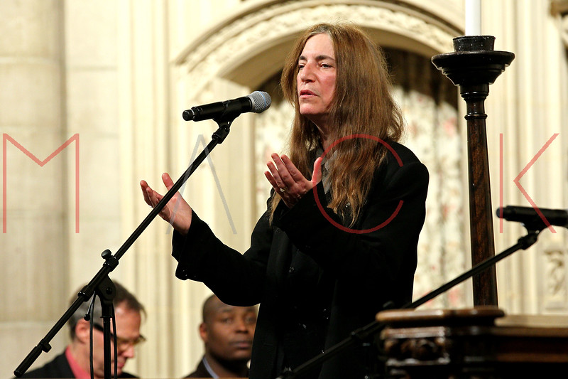 NEW YORK, NY - JANUARY 15:  Patti Smith attends the 2012 Dr. Martin Luther King Jr. Service at Riverside Church on January 15, 2012 in New York City.  (Photo by Steve Mack/S.D. Mack Pictures)