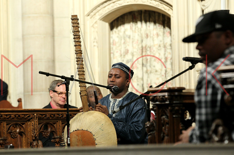 NEW YORK, NY - JANUARY 15:  Salieu Suso performs at the 2012 Dr. Martin Luther King Jr. Service at Riverside Church on January 15, 2012 in New York City.  (Photo by Steve Mack/S.D. Mack Pictures)