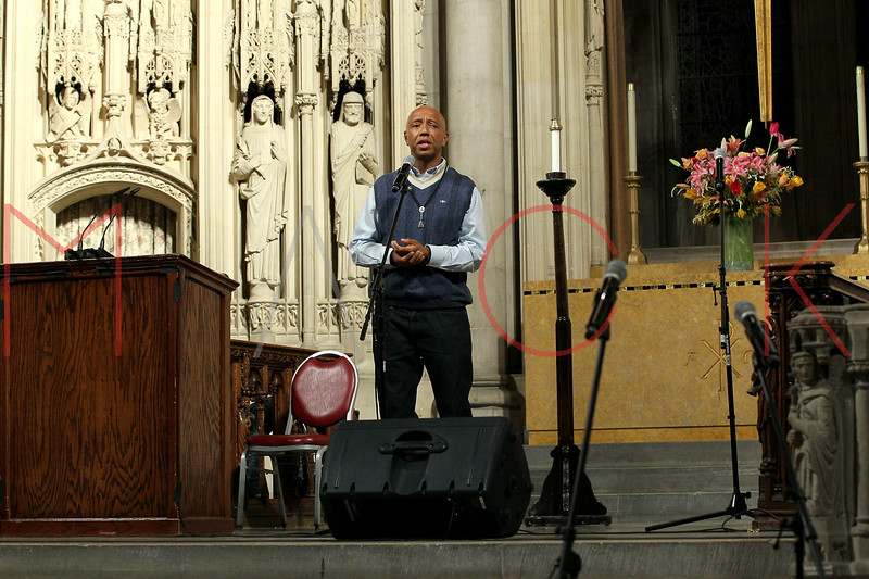 NEW YORK, NY - JANUARY 15:  Russell Simmons attends the 2012 Dr. Martin Luther King Jr. Service at Riverside Church on January 15, 2012 in New York City.  (Photo by Steve Mack/S.D. Mack Pictures)