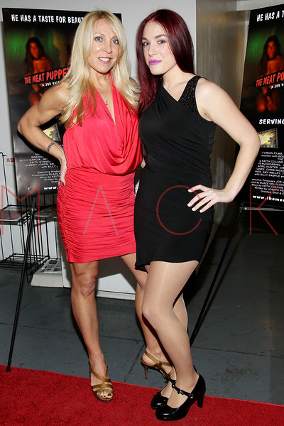 "NEW YORK, NY - JANUARY 17:  Cindy Fox ""The Naked Cowgirl"" and her daughter Tiffany Aiello attend ""The Meat Puppet"" New York Premiere Film at Anthology Archives on January 17, 2013 in New York City.  (Photo by Steve Mack/S.D. Mack Pictures)"