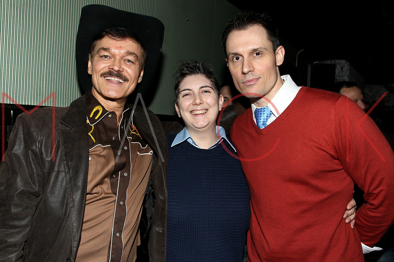 "NEW YORK, NY - JANUARY 17:  Randy Jones, Jana Mattioli and Keith Collins attend ""The Meat Puppet"" New York Premiere after party at Kings Cross on January 17, 2013 in New York City.  (Photo by Steve Mack/S.D. Mack Pictures)"