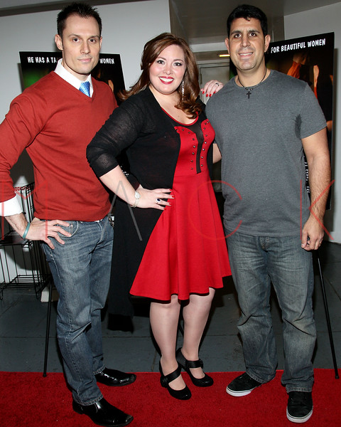 "NEW YORK, NY - JANUARY 17:  Keith Collins, Blaze Kelly Coyle and Joe Valenti attend ""The Meat Puppet"" New York Premiere Film at Anthology Archives on January 17, 2013 in New York City.  (Photo by Steve Mack/S.D. Mack Pictures)"