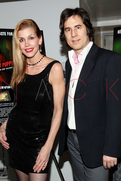 "NEW YORK, NY - JANUARY 17:  Debbie Dickinson and Chris Scarlett attend ""The Meat Puppet"" New York Premiere Film at Anthology Archives on January 17, 2013 in New York City.  (Photo by Steve Mack/S.D. Mack Pictures)"