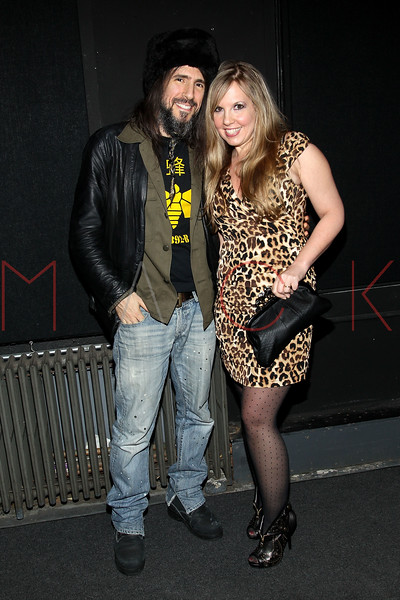 """NEW YORK, NY - JANUARY 17:   Ron """"Bumblefoot"""" Thal and his wife Jennifer attend """"The Meat Puppet"""" New York Premiere Film at Anthology Archives on January 17, 2013 in New York City.  (Photo by Steve Mack/S.D. Mack Pictures)"""