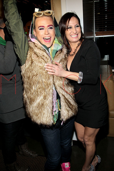 NEW YORK, NY - JANUARY 19:  Indashio and Billie Mitchell at the Hudson Eatery on January 19, 2012 in New York City.  (Photo by Steve Mack/S.D. Mack Pictures)