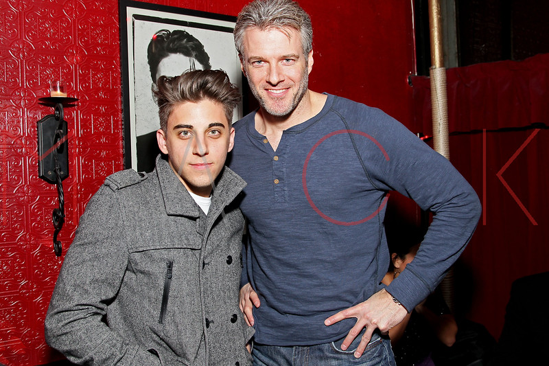 NEW YORK, NY - JANUARY 19:  Justin Thorne and Edward Watts attend the Aaron Carter Concert After Party at Angels & Kings on January 19, 2012 in New York City.  (Photo by Steve Mack/S.D. Mack Pictures)