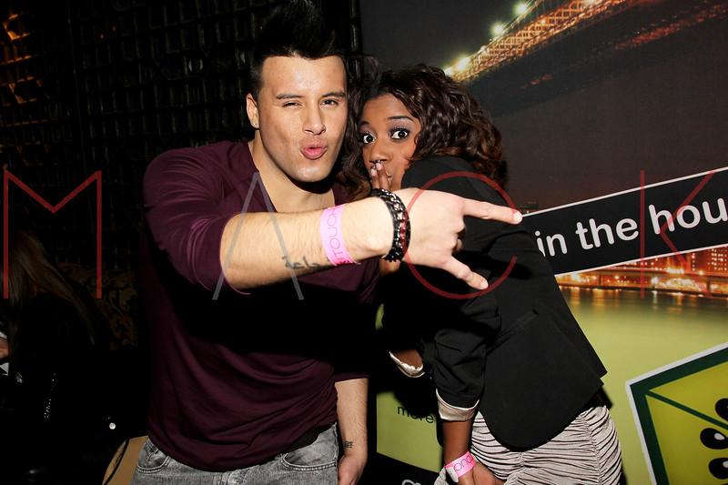 NEW YORK, NY - JANUARY 21:  Johnny Donovan and Jasmine Reynaud attends Noami Defensor's 24th birthday party at Taj II on January 21, 2012 in New York City.  (Photo by Steve Mack/S.D. Mack Pictures)
