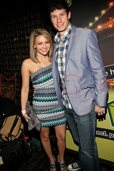 NEW YORK, NY - JANUARY 21:  Heather Marter and Dustin Zito attend Noami Defensor's 24th birthday party at Taj II on January 21, 2012 in New York City.  (Photo by Steve Mack/S.D. Mack Pictures)