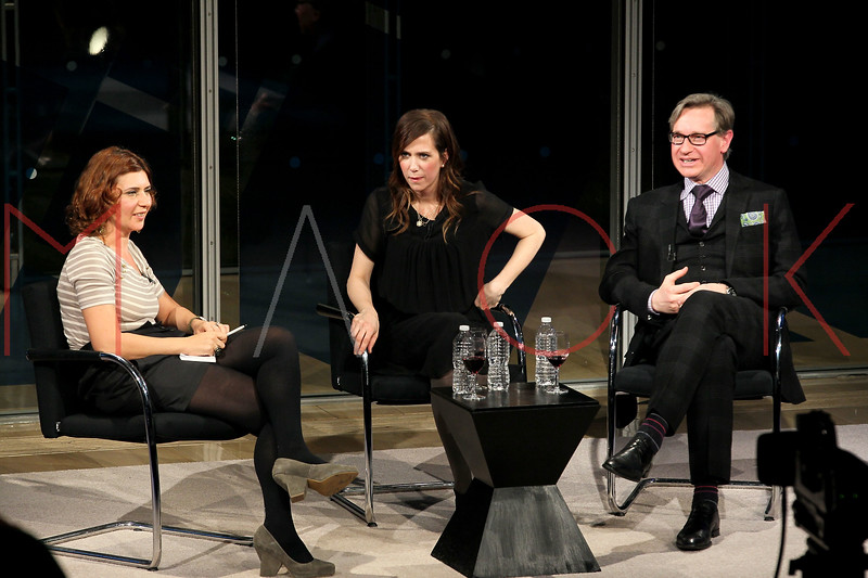 NEW YORK, NY - JANUARY 08:  Kristen Wiig and Paul Feig attend the New York Times TimesTalk during the 2012 NY Times Arts & Leisure weekend at The Times Center on January 8, 2012 in New York City.  (Photo by Steve Mack/S.D. Mack Pictures)