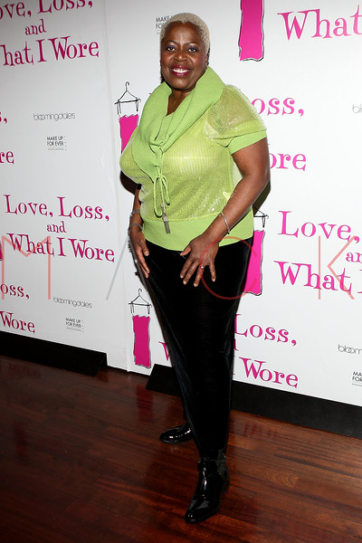 "NEW YORK, NY - JANUARY 05:  Lillias White attends the ""Love, Loss, And What I Wore"" new cast member celebration at B Smith's Restaurant on January 5, 2012 in New York City.  (Photo by Steve Mack/S.D. Mack Pictures)"