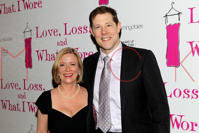 """NEW YORK, NY - JANUARY 05:  Eve Plumb and John Bolton attend the """"Love, Loss, And What I Wore"""" new cast member celebration at B Smith's Restaurant on January 5, 2012 in New York City.  (Photo by Steve Mack/S.D. Mack Pictures)"""