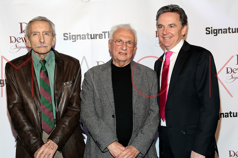 NEW YORK, NY - JANUARY 30:  Edward Albee, Frank Gehry and James Houghton attend The Signature Center Opening gala on January 30, 2012 in New York City.  (Photo by Steve Mack/S.D. Mack Pictures)